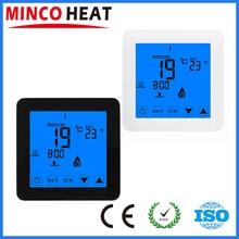 MINCO Терморегулятор с ЖК-сенсорным экраном комнатный регулятор температуры Термостат для электрического отопления пола