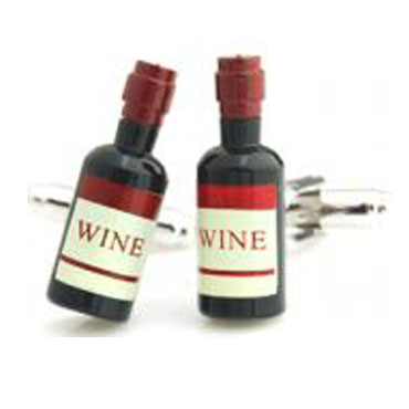 TZG10279 Wine Bottle Cufflink Cuff Link 15 Pairs Wholesale Free Shipping