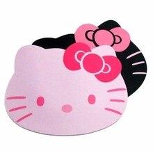 Прямая доставка hello kitty милый ноутбук компьютерная мышь коврик розовый черный цвет оптовая цена