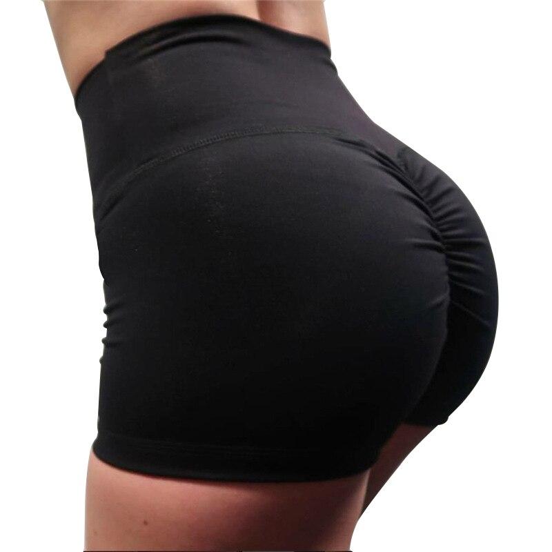 Verano de alta cintura Shorts mujeres moda Push Up Shorts entrenamiento corto femenino Color sólido flaco pantalones cortos mujeres