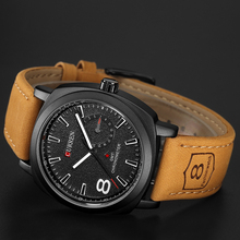 купить CURREN Leather Mens Watches Top Brand Luxury Men's Quartz Watch Waterproof Sport Military Watches Men Leather Relogio Masculino по цене 873.35 рублей