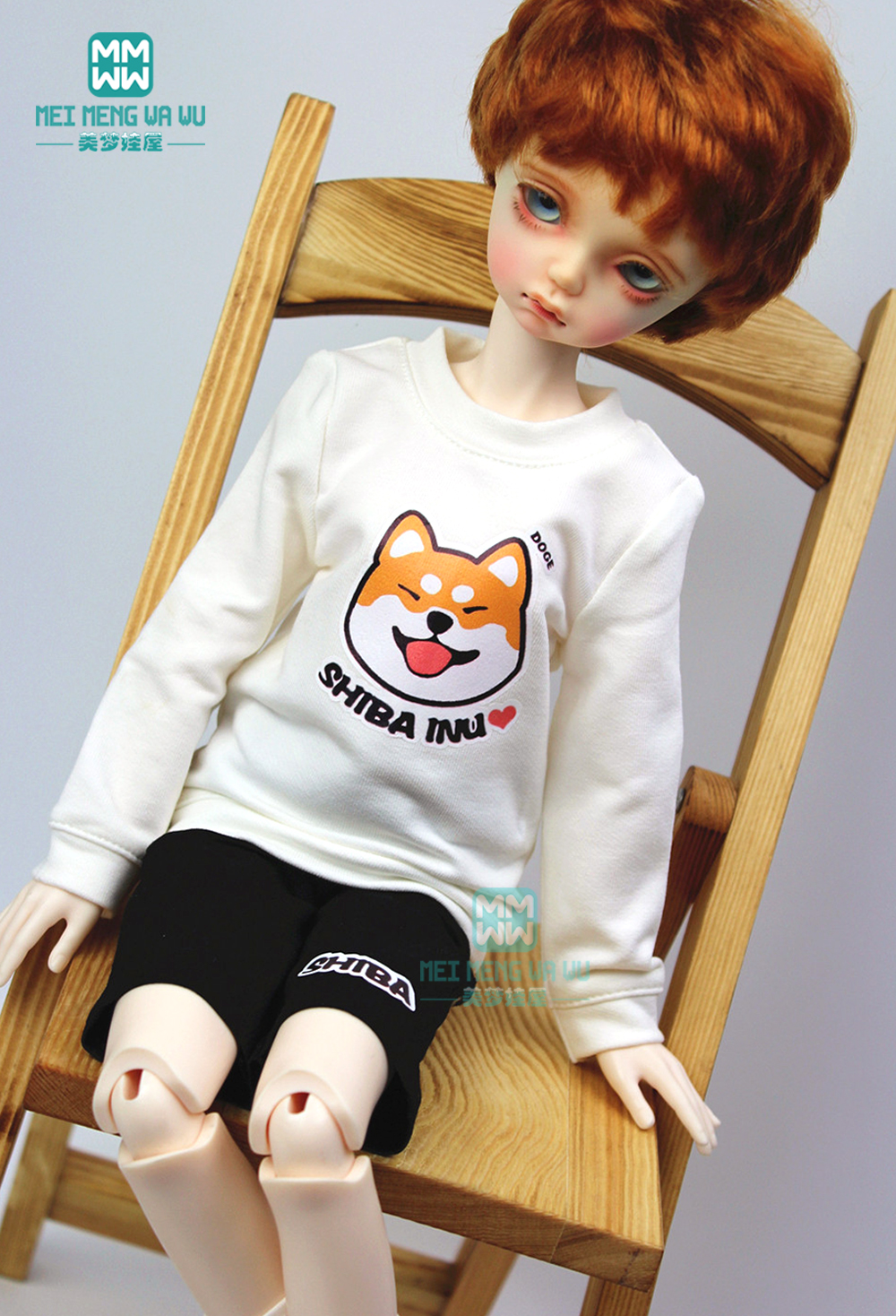 BJD Accessories Doll Clothes For 1/4 BJD MSD Doll Fashion Sweatshirts, Jackets, Shorts