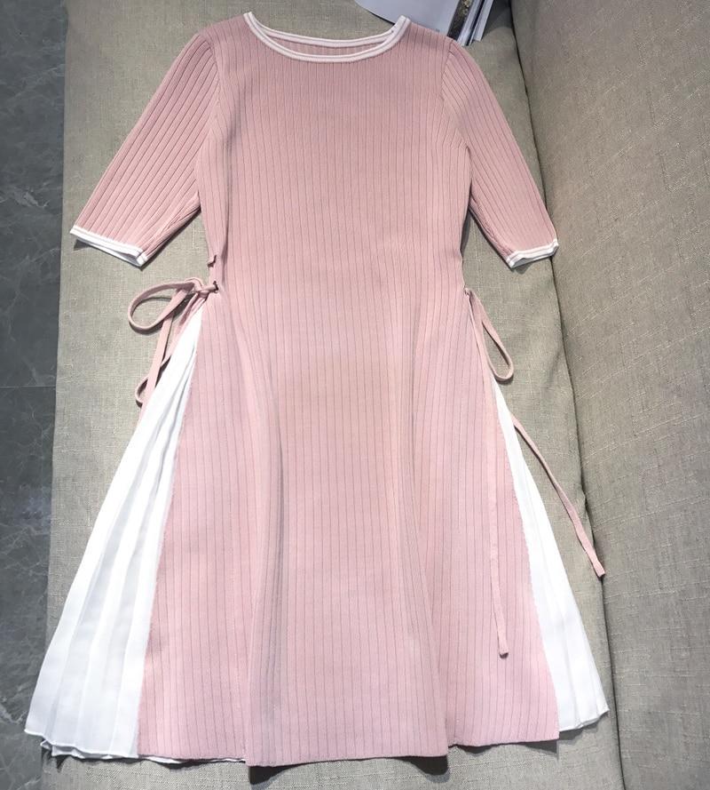 High Quality Knitted Sweater Dress for Women Autumn Winter Women Dress Work Wear Wool Sweater Dress