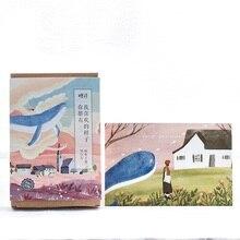 30 листов/lot милый КИТ тема Почтовые открытки/открытка/желание карта/Рождество и Новый год подарки