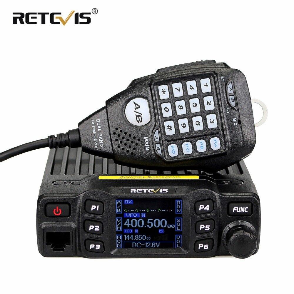 Retevis RT95 Voiture Talkie Walkie Double Bande Amateur Mobile Radio Station 25 w 200CH VHF UHF DTMF CTCSS/DCS émetteur-récepteur + Haut-Parleur MIC