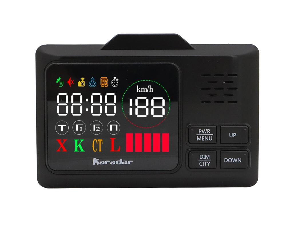 Détecteur anti-radar de GPS de voiture de Karadar 2 dans 1 GPS de vitesse de Police pour l'affichage russe de LED 360 degrés X K CT L avec l'affichage de 2.4 pouces