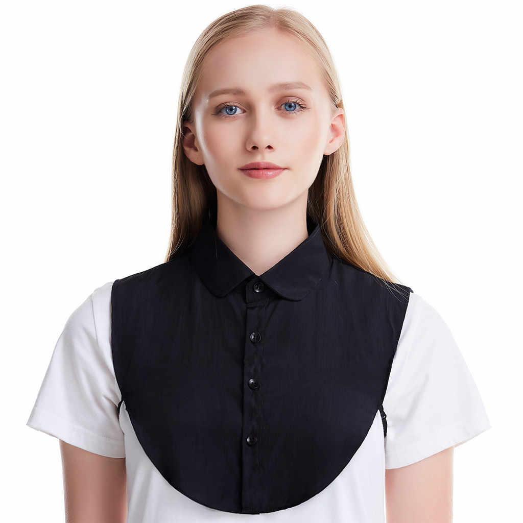 Blusa de cuello desmontable con cuello falso a la moda para hombre y mujer