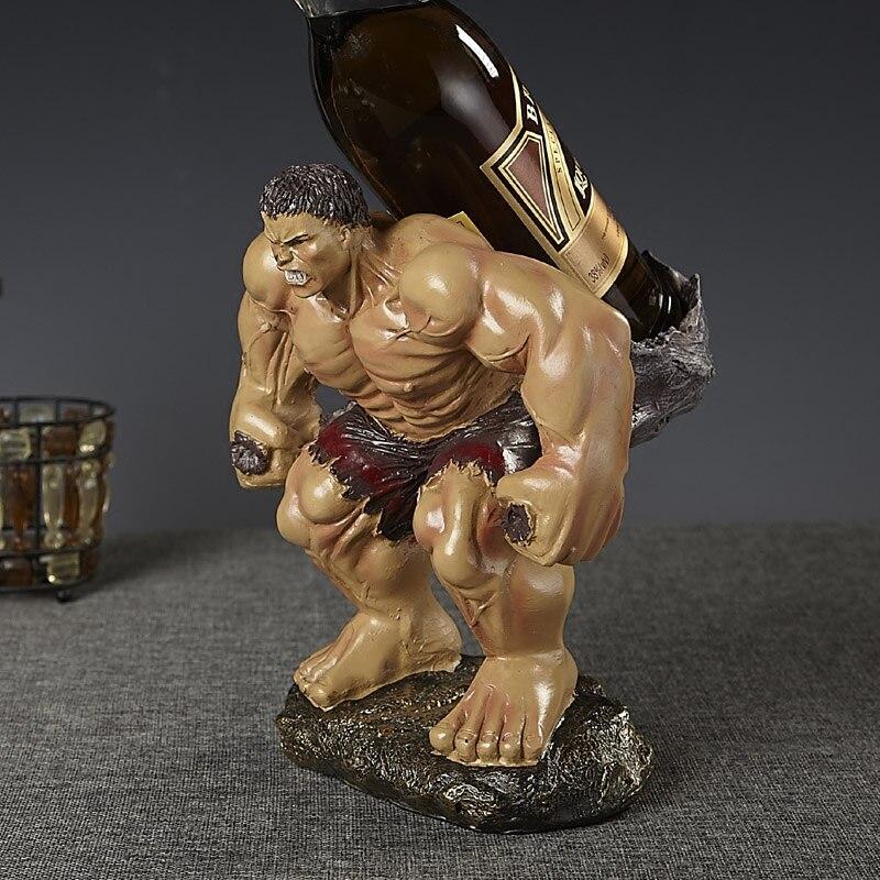 Wacky Hulk Basamento Del Vino Rosso Scultura Decorativa Polyresin Giant Statua del Supporto della Bottiglia di Bere Bar, Utensili e Accessori Ornamento Craft Accessori-in Portabottiglie per vino da Casa e giardino su  Gruppo 1