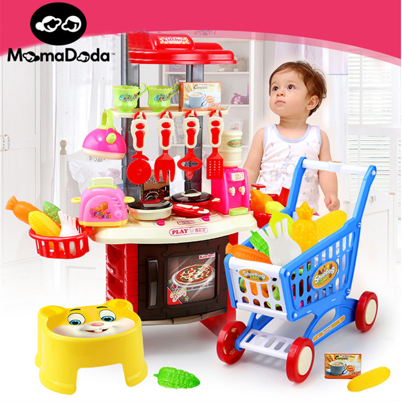 children minuture luxury kitchen cooking set toy for girl with cart chair kid's kitchen food processor toy for children  kit kat baby cooking toy kid cooking set wooden play kitchen toy kitchen for children play wooden toy food kids play kitchen set pink