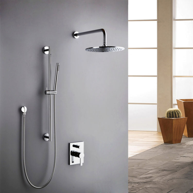 Free shipping Hansgrohe shower set 300mm wall mixer set copper-in ...