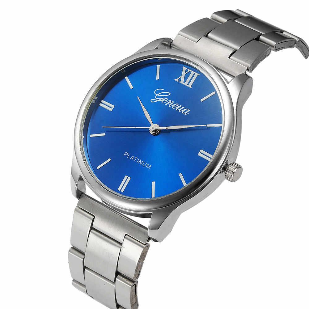 איש האופנה הנשים קריסטל נירוסטה אנלוגי קוורץ שעון יד