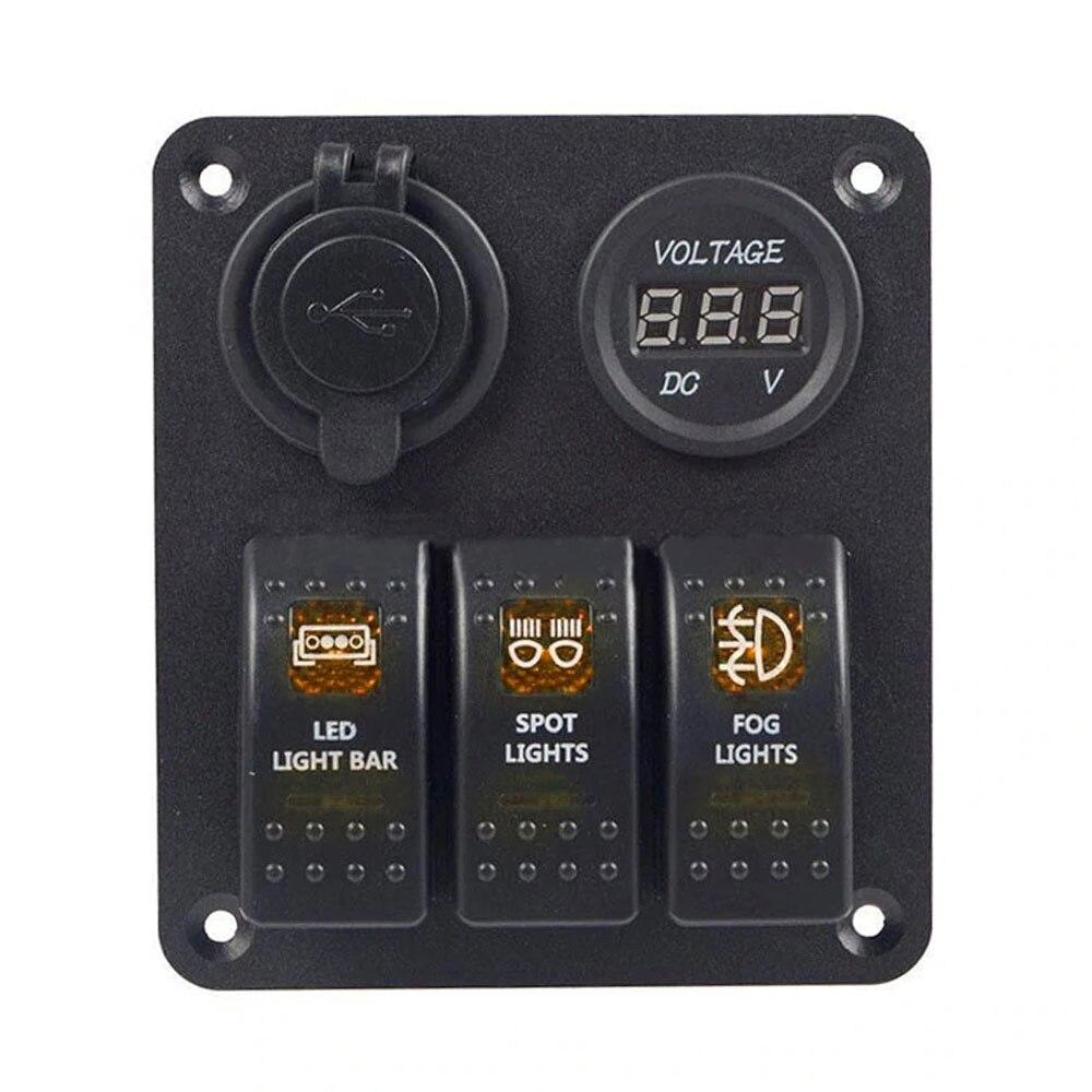 Автомобильный переключатель 12 В/24 В универсальный переключатель панели лодочный тумблер Прочный Контроль