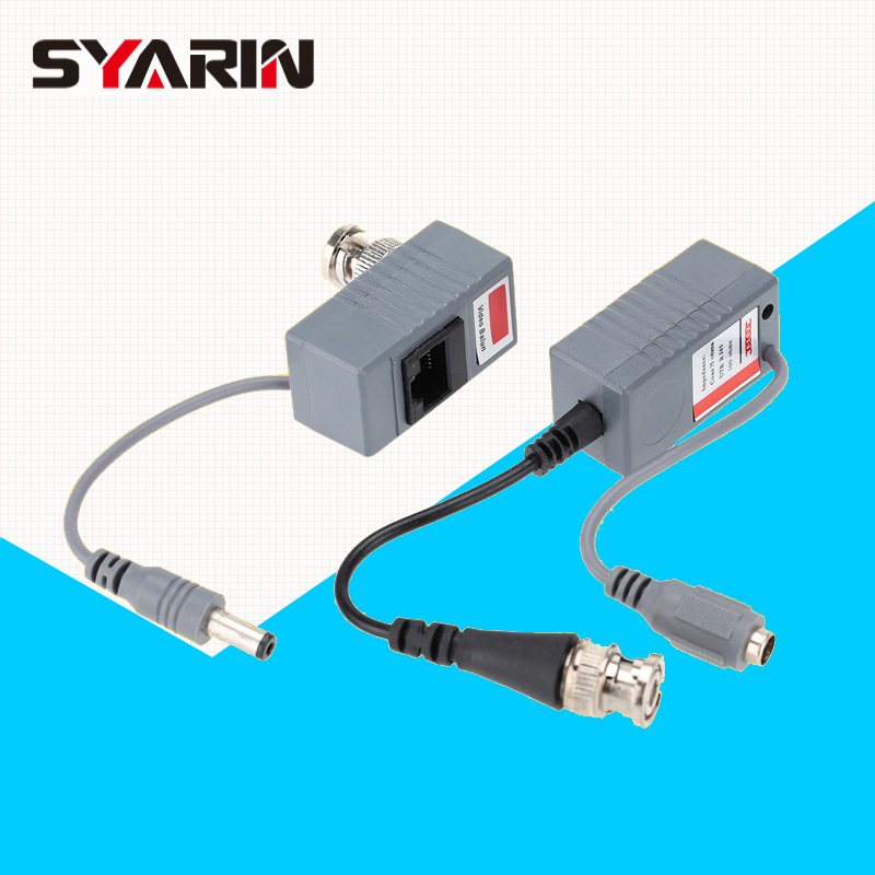 Surveillance Camera Balun ABS Plastic Transceiver BNC UTP RJ45 Video/ Power CAT5/5E/6 Cable Security Accessories TE-G05CAB syarin cctv camera video balun abs plastic transceiver bnc utp rj45 video power over cat5 5e 6 cable cctv accessories