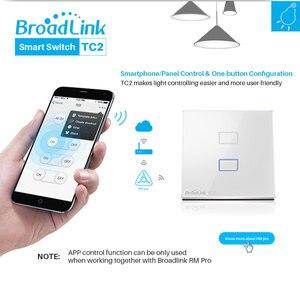 Image 2 - Broadlink TC2 האירופי WiFi מתג מגע פנל בריטניה האיחוד האירופי סטנדרטי קיר אור מתג APP שליטה על ידי IOS אנדרואיד טלפון חכם בית אוטומציה