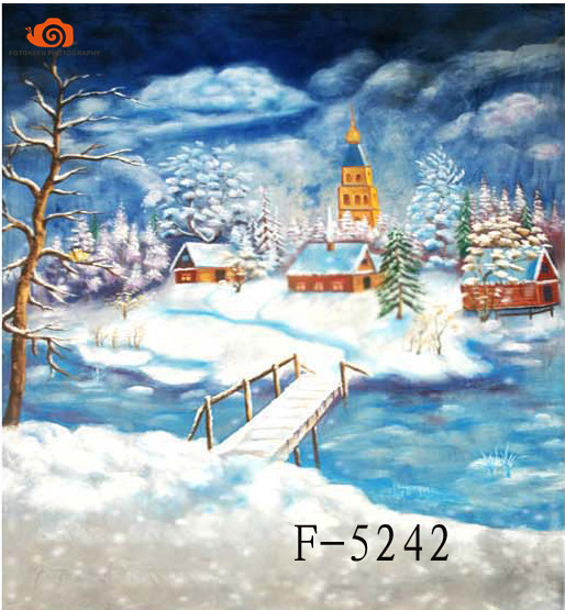 New arrival 10' X 20'/3X 6m winter Snow Scenic photographic background,hand Painted Muslin photography backdrops christmas F5242 подвесная люстра odeon light tarsu 2617 3a
