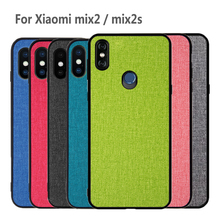 For Xiaomi mi mix 2 case cover xiaomi 2s back silicone edge fabric protective capas for mix2 mix2s