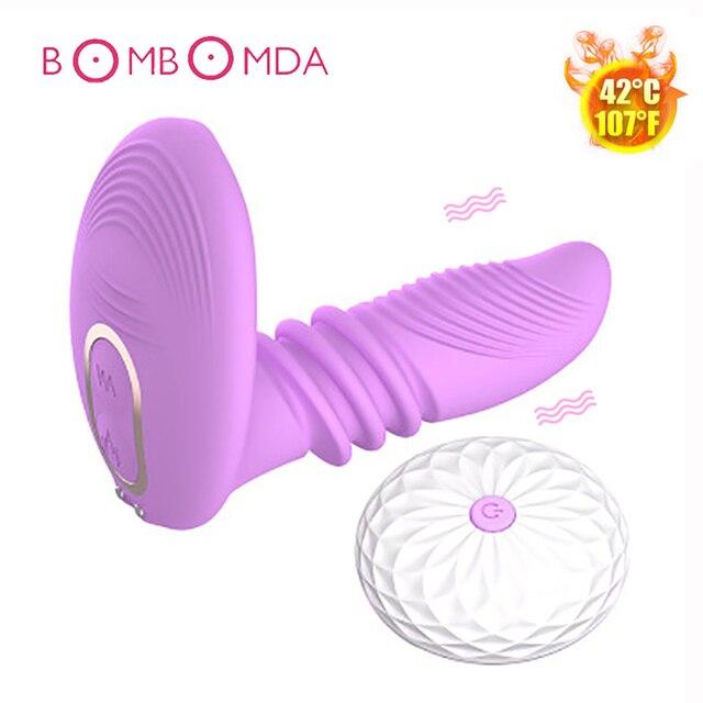 25344f87c Wireless Remote Control Heating Vibrator G-spot Massager Clitoris Dildo Stimulator  Adult Sex Toys for Woman Female Masturbators