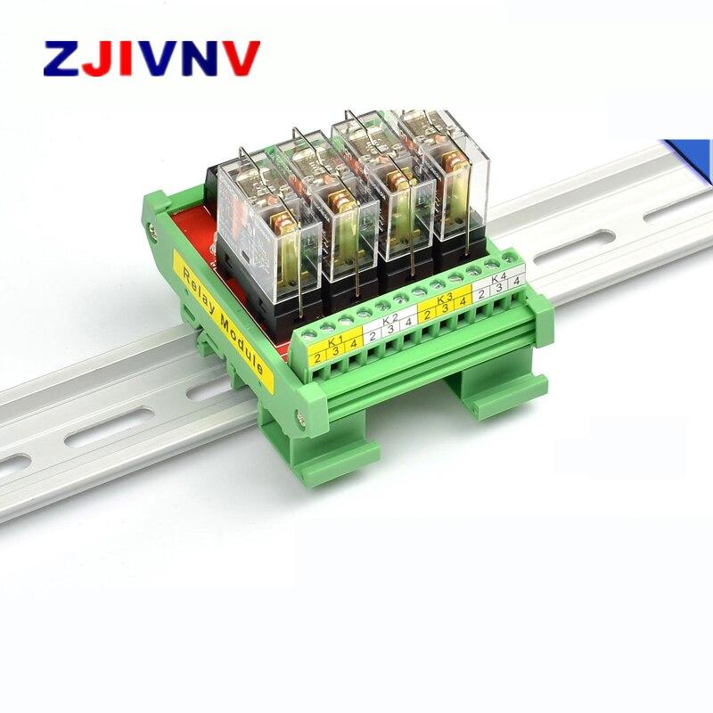 14 canaux 10A 1NO-1NC SPDT DIN montage sur Rail PNP NPN compatible 12V 24V DC Interface relais Module avec OMRON G2R-1