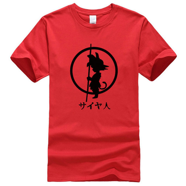 BAIJOE Brand Japan Anime dragon Ball Goku Print T-shirt Men Fashion short sleeve cotton T shirts Tops Mens Summer Clothing