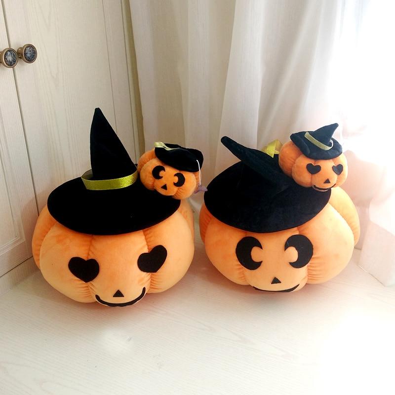 Candice guo plush toy stuffed doll cartoon Pumpkin magic wizard hat Halloween Nightmare Before Christmas pillow cushion gift 1pc