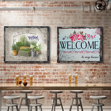 Plant Vintage Metal Plate Tin Signs Wall Poster Decals Painting Bar Club Pub Home Decor 30*20cm