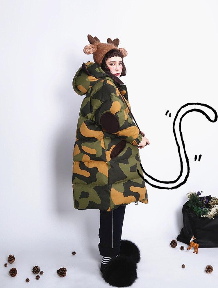 Long 2017 À Unique Capuchon Fourrure Beige Blanc D'hiver Surdimensionné De Raton Originale Camouflage Manteau Xyj235 Conception Laveur Femmes noir Duvet Veste Canard Collier RqtwngPx