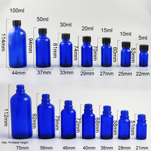 Image 2 - 200 x 5ml 10ml 15ml 20ml 30ml 50ml 100ml Cobalt Blue Nail Polish Glass Bottle  With Black Brush Cap 1oz Glass Cosmetic Container