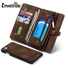 Tmalltide съемный кожаный бумажник чехол для Samsung Galaxy S7 S7 край магнитных флип держателя карты Чехол для iPhone 6 S плюс