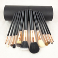 New Professional 12 pcs Makeup Brushes Set Eyeshadow kit Foundation Blending Cosmetic Make Up Tools Com Cilindro Elíptico