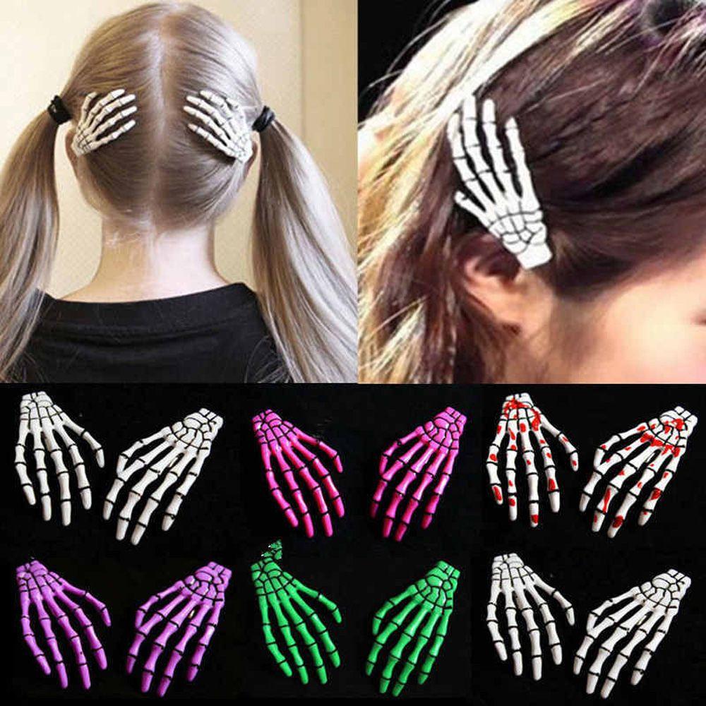 6 Piece Neon Tone Hair Snap Clip Set Womens Accessories Girls Slide