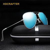 2016 Hot Men Metal Aviator Polarized Sunglasses Classical Casual Male Eyewear Brand Designer Oculos De Sol