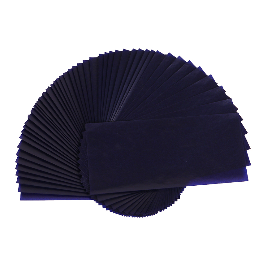 50PCS 48K Double Sided Blue Carbon Paper Thin Type Stationery Paper Office Finance Carbon Paper