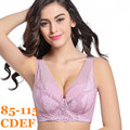 Ultra Thin Big Cotton Full Cup Plus Size Bra Women Furu Adjustable Bras 85 40 95 44 105 48 115 C D E F Free Shipping