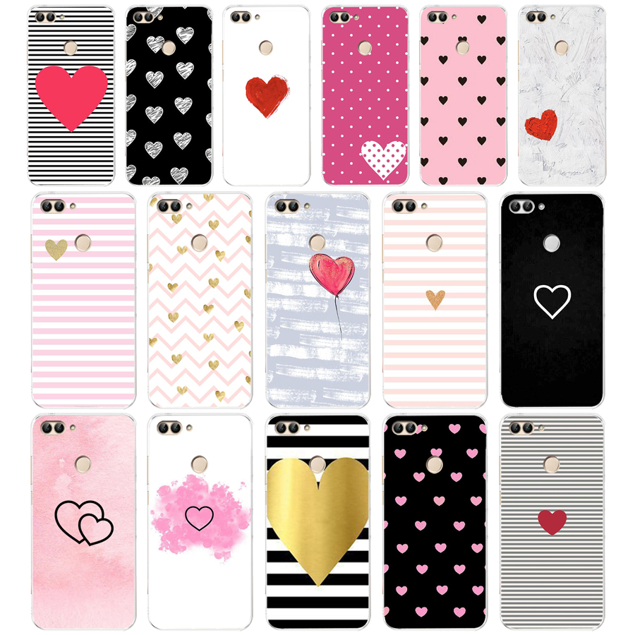 <font><b>105</b></font> ZX Stripes and hearts Soft Silicone Case For Huawei Honor Mate 20 pro View 10 p smart <font><b>2018</b></font> 2019 cell phone Cover image