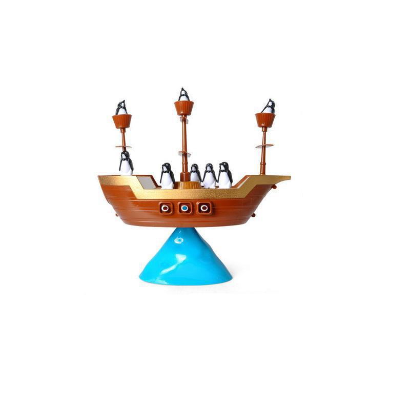 Pirate Boat Balancing Game Penguins Balance Interactive Table Game Learning Educational Creative Desk Kids Children Toy