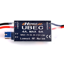 JMT HENGE 4A UBEC Input 7V-25.5V 2-6S Lipo Output 5V 6V / 4A Continuous Max 6A Switch Mode BEC for RC Helicopter Car Parts все цены