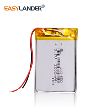 1/2/4 высокое Ёмкость 103450 3,7 V литий-полимерный Батарея 2000 Mah Li-po литий-полимерный аккумулятор MP5 gps Bluetooth Динамик клетки усилитель для наушников