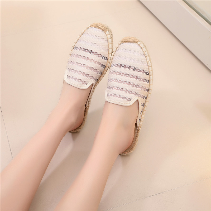 Summer Lace Espadrilles Flat Shoes Women Casual Fisherman Flats Ladies Breathable Lightweight Lazy Loafers New Female Hemp Shoes (14)