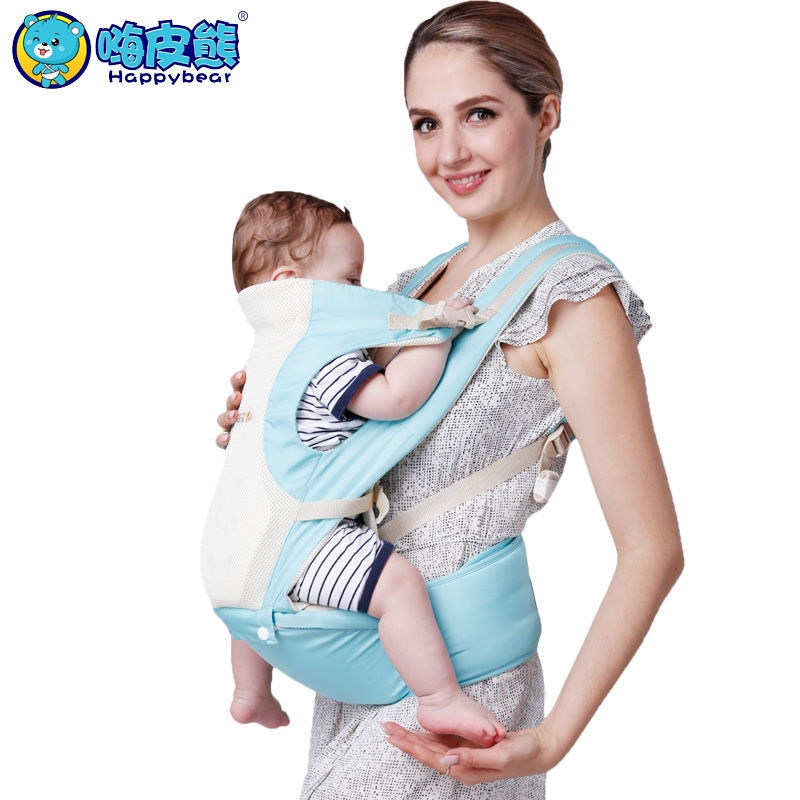 Happy Bear New 0-48 Months Breathable Multifunctional Back Front Facing Baby Carrier Infant Baby Sling Backpack цена