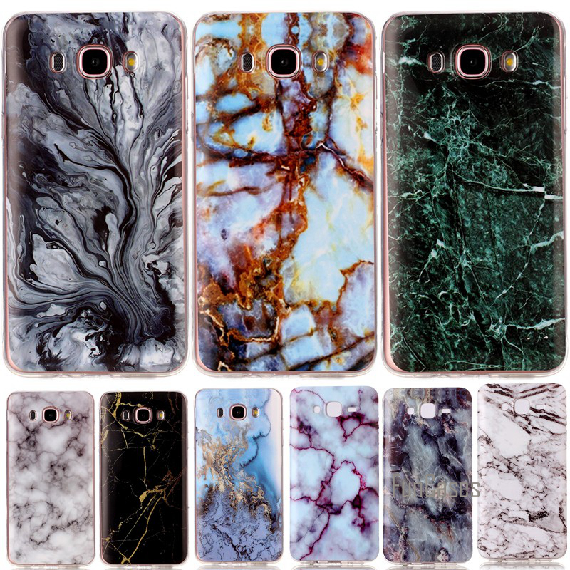 For Samsung Galaxy J5 J7 <font><b>J3</b></font> <font><b>2016</b></font> A3 A5 2017 Silicon Case Soft TPU Cover Shell Smooth Marble Stone Rock Cases Coque Etui Capinha image