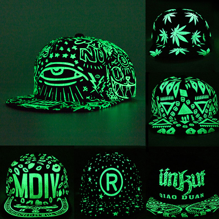 New Fashion Fluorescence Baseball Cap Women Men Snapback Caps Luminous Gorras Sport Casquette Hip Hop Cap Hat Drop Shipping(China)