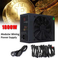 1800W Modular Mining Power Supply GPU For Bitcoin Miner Eth Rig S7 S9 L3 D3 Computer
