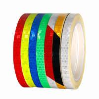 Deemount Bicycle Light Reflective Sticker 8M*1CM Light Sensitive Straight Strip Reflector Visual Warning Figments Safe Bike