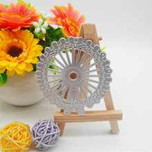 Ferris wheel new Metal Cutting Dies Handicraft Scrapbook embossing Paper Craft Album Card Punch Knife Art 7.4*7.6cm