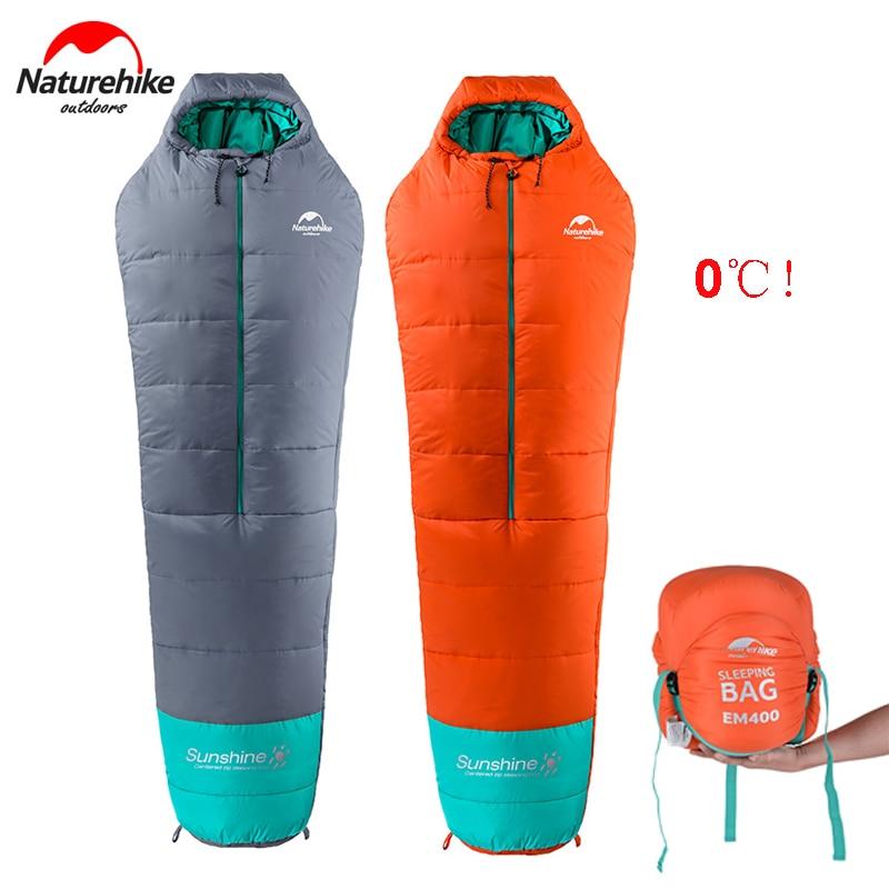 Naturehike 0 Degrees Lightweight Mummy Sleeping Bag Outdoor Camping Portable Cotton Sleeping Bag NH17S013-D
