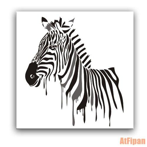 บทคัดย่อม้าลายกรอบภาพวาดนามธรรมสัตว์DIYบนผ้าใบตกแต่งบ้านสำหรับห้องนั่งเล่น