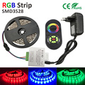 3528 RGB LED Strip  SMD Flexible Diode Tape 12V LED Ribbon  Ledstrip for Home Decoration 24key 2A POWER Adapter EU OR US