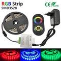 3528 RGB LED Strip  SMD Flexible Diode Tape 12V LED Ribbon  Ledstrip for Home Decoration 24key 2A POWER Adapter EU OR US