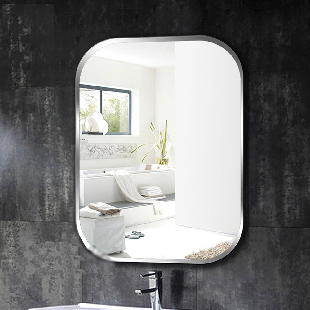 US $155.99 |A1 Frameless square bathroom wall mirror toilet dressing table  washbasin mirror bedroom wall hanging glass mirror wx8230936-in Bath ...