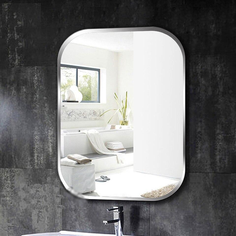 Frameless Square Bathroom Wall Mirror